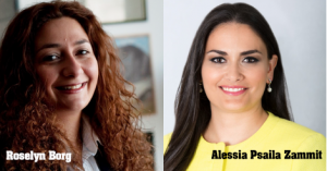 Roselyn Borg and Alessia Psaila Zammit